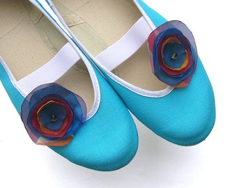 rainbow /blue red navy teal summer boho trends ballet flats shoes jarmilki woman bride poletsy fashion gift romantic spring happy colorful