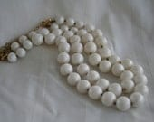 VIntage Pearly White Multi Strand Necklace