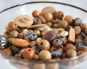 Beautiful Wood Bead Mix-up
