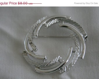 SALE Sarah Coventry Silvery Swirl Vintage Brooch