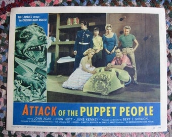 Attack of the Puppet People Original 11x14 Lobby Card from Québec Canada 1958 Rare