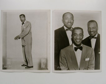 Sammy Davis Junior Will Mastin Trio late 1940s Publicity Photos from Hollywood by John E. Reed
