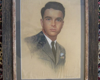 Montgomery Clift original pastel drawing by G. Maillard Kesslere 1945 museum piece
