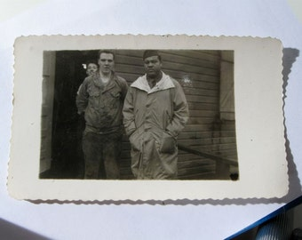 Joe Louis while in the US Army set of two possibly one of a kind original snapshot photos
