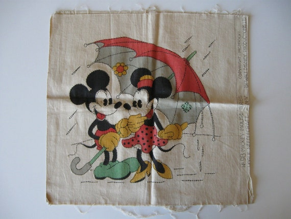 Mickey & Minnie Mouse 1931 Vogue needlecraft pillow sham pattern Number 98