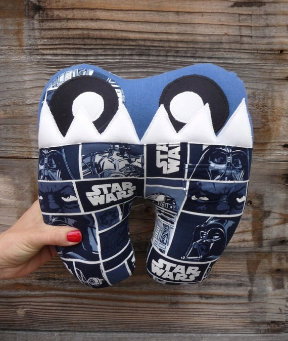 Tooth Fairy Pillow and Book...Toothy the Tooth Ferry... Star Wars Toothy