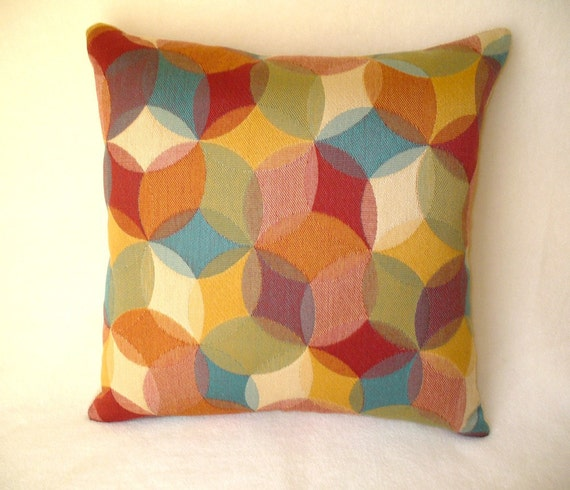 18 X 18 Multi Colored Decorative Pillow With Insert