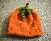 Baby Pumpkin Knit Hat