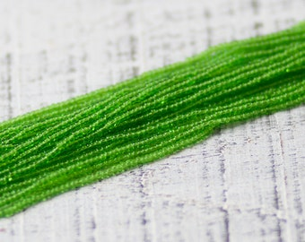 Solid Green Seed Beads