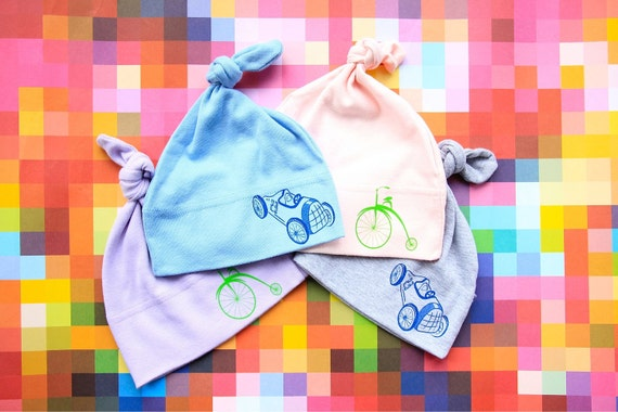 Unisex Assorted Baby Hats, Kids Hats, Beanie, Vintage Bike or Car, San Francisco