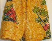 Shorts with Hawaiian Design