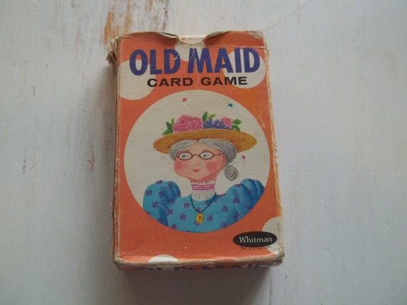 Vintage Whitman Old Maid Card Game Circus Theme Complete