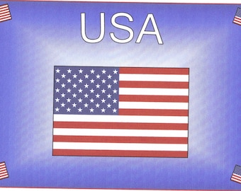 United States USA Note Cards