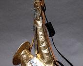 Gold Leather Saxophone Purse