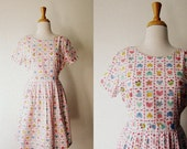 Vintage 'I Refuse To Grow Up' Teddy Floral Chicken Print Sun Dress