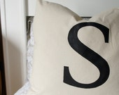 FREE SHIPPING- Custom Hand Painted Monogramed Decorative Pillow 20 x 20