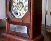 Antique Clock  Seth Thomas Mini Octagon Top Shelf / Cottage Clock 1868