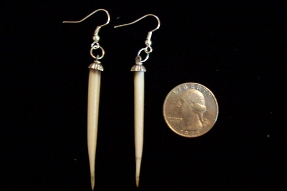 Porcupine Quill Earrings Ivory colored cruetty free