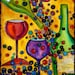 Archival quality print (or giclee), wine theme, size 13x17, from my original painting - Petite Syrah