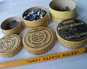 Vintage Industrial Office Assortment - Paper Fasteners, Pencil Oakville Defender Brands