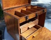 Rustic Wooden Tool Box - Handmade Tool Chest
