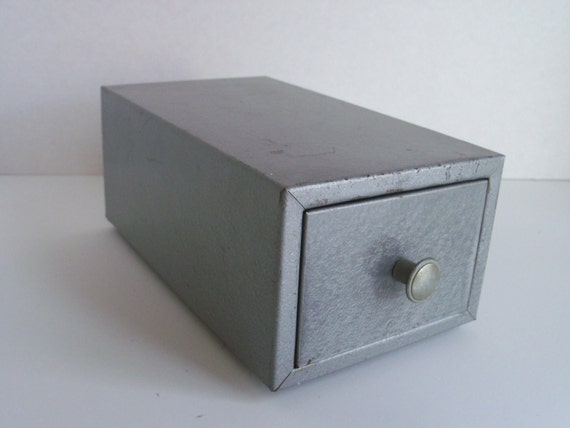 RESERVED Industrial File Box Steel Card File for Your by