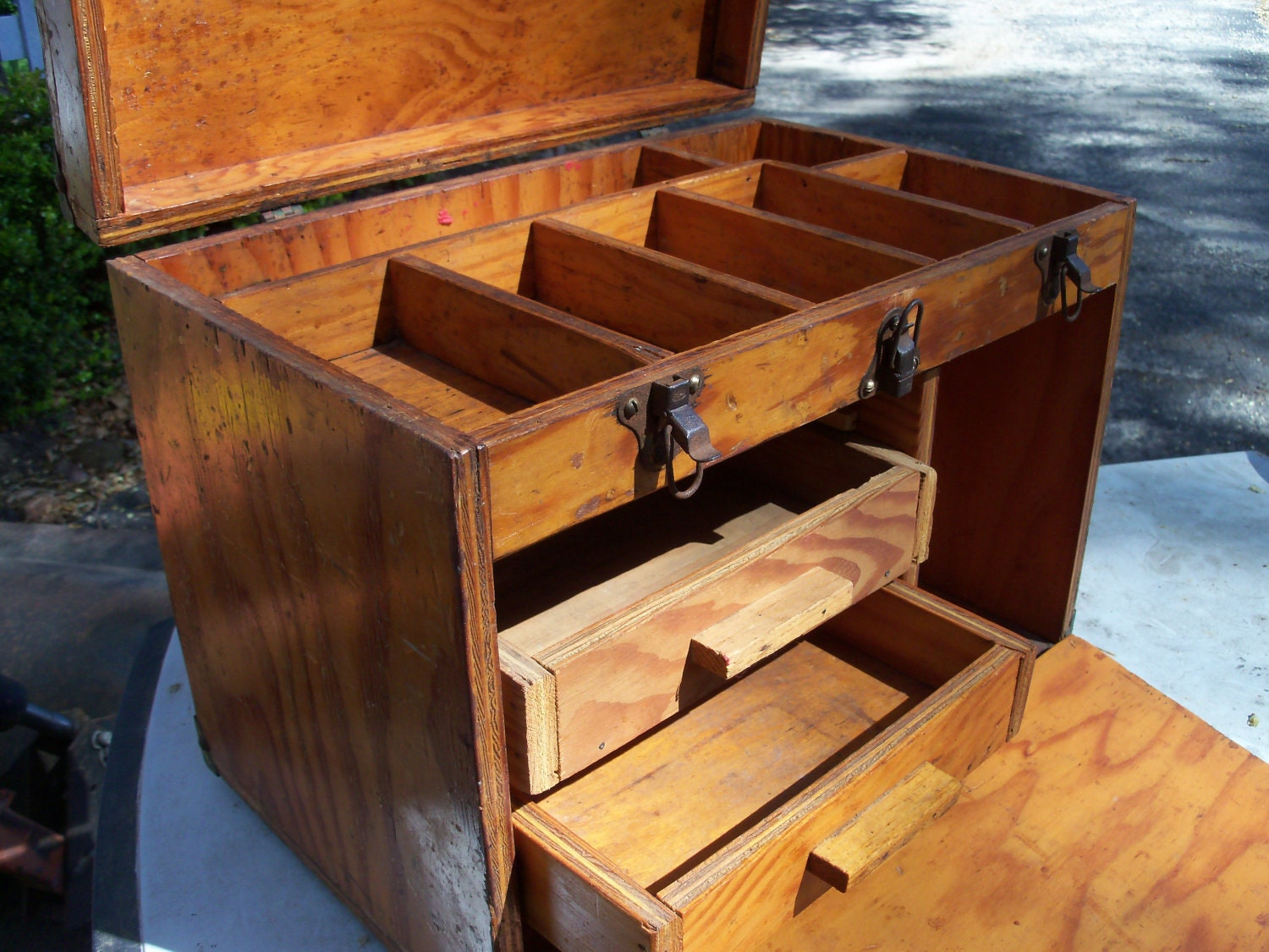 Handmade Wood Toy Chest