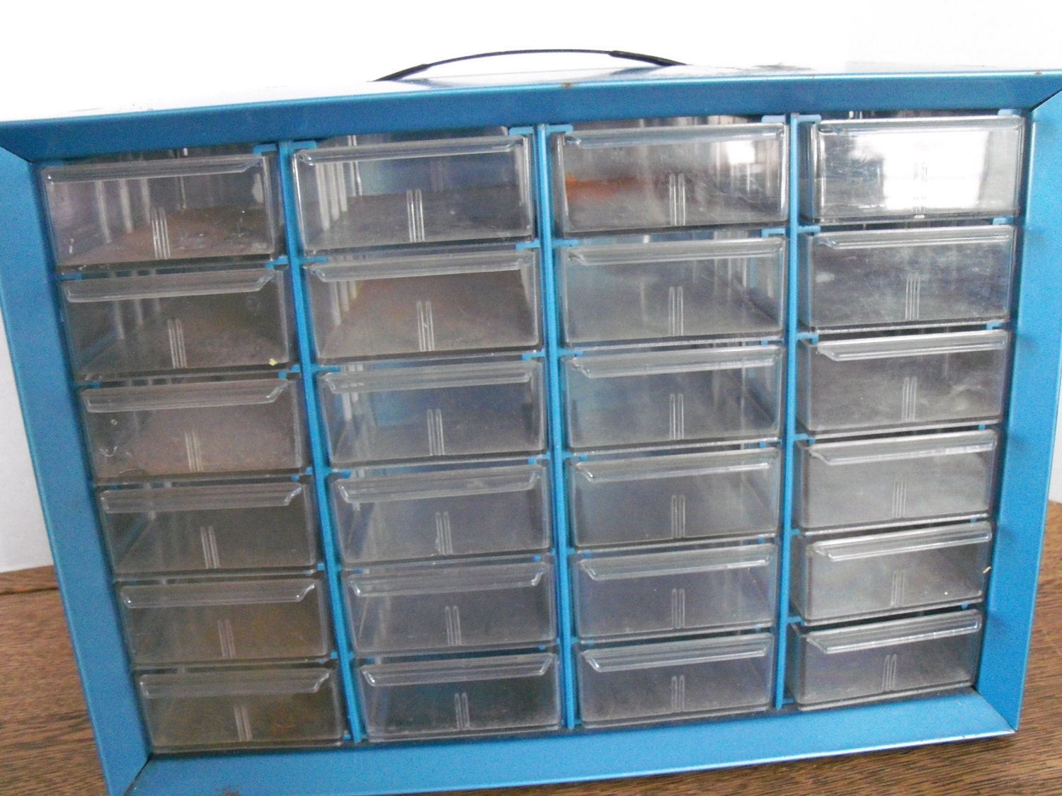 Industrial Tool Box 24 Mini Storage Drawers Jewelry Crafts