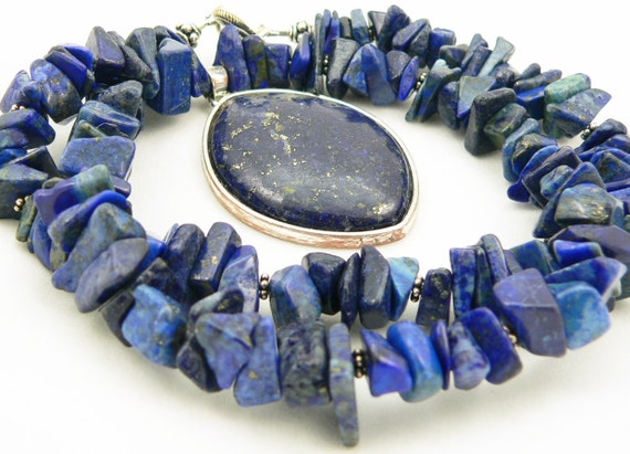 Mother's Day - Lapis Lazuli Chunky Casual Necklace