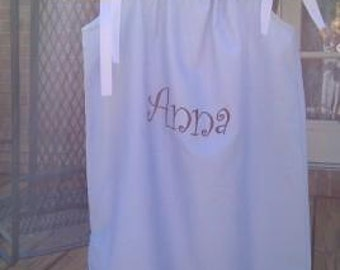 Sample Sale Anna embroidered Blue  Dress size 6 Ready to Ship Today.