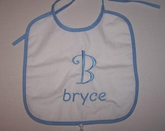 Bib with Initial And Or Name