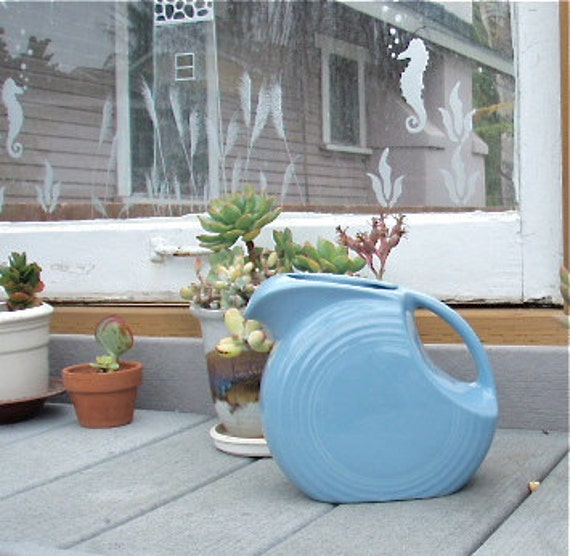 Fiesta Pottery Pitcher in Cornflower Blue