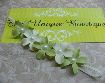 Newborn Headband...Baby Bows...Baby Halo Headband...Baby Girl Headband...Photography Prop