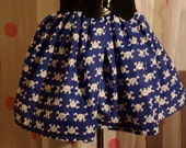 Adorable Handmade Skull and Crossbone Print Mini Skirt