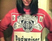 RESERVED FOR FRANCISCA Budweiser Beer Ski Sweater Knit Rare Authentic 1970's Unisex