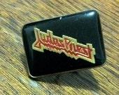 """Vintage Heavy Metal Rock 70's/80's """"Judas Priest""""   black and red Pin Metal/Enamel"""