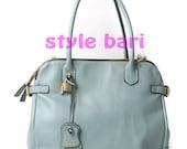 Cow Leather bag, laptop messager satchel purse shoulder cross body bag,Mint