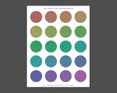 PHOTOSHOP ACTION - Instant Digital Download - Create Your Own Digital Collage Sheet 1.5x1.5 Circles from (20) Images