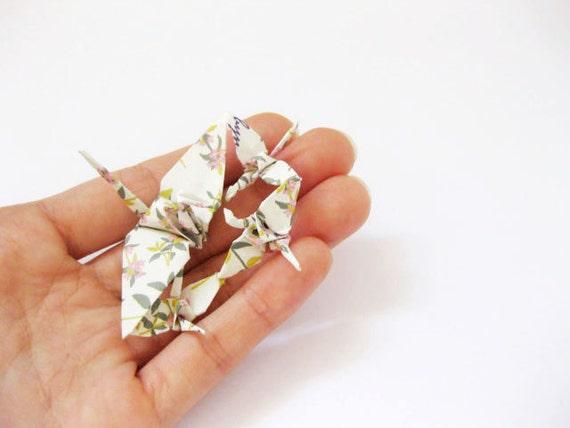 Bird family, origami mother bird and children origami miniature