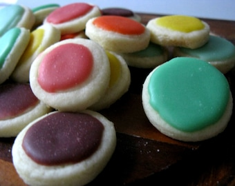 Sugar Buttons Cookies - 2 dozen bite sized sugar cookies
