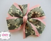 ACU and Pink Lilly Military Bow