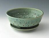 Green Stoneware Berry Bowl