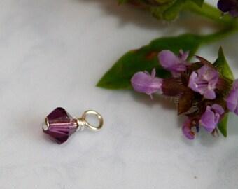 Swarovski Birthstone Bead Dangle charm