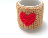 SALE /// Crochet Tea Cozy handmade red heart