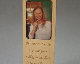 Bookmark with photo insert.  Picture/Mark.  FREE SHIPPING.