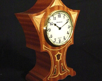 Mantle Clock with art Nouveau flair.  MC-23  Free Shipping