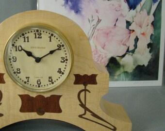 Art Nouveau mantle clock.  MC24.  Free Shipping.
