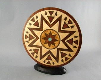 "Inlaid accent titled ""Meeting Place"""