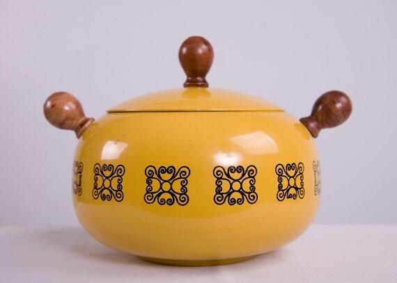 RESERVED For CornerBazaar  Super Sale Vintage Storage Pot - RetroTastic Yellow Pot