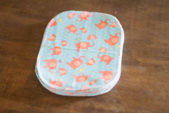 Diaper  Wipes - 10 Print Set - Eco Friendly Reusable Diaper Wipes